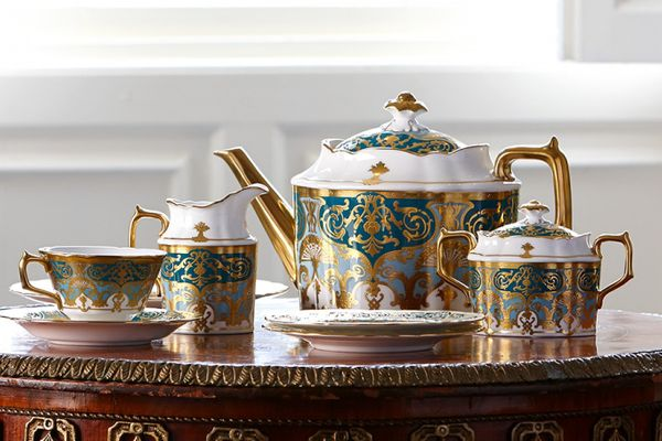 Royal Crown Derby Heritage Forest Green & Turquoise