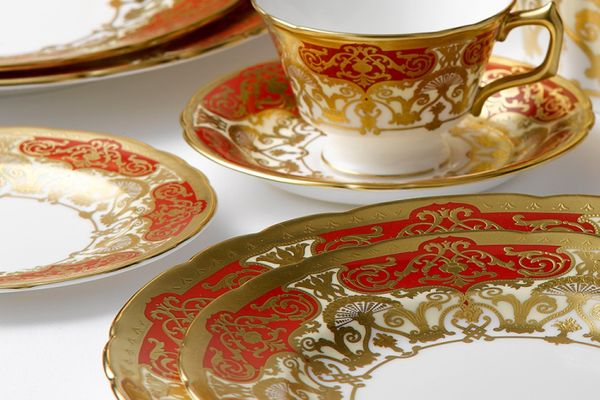Royal Crown Derby Heritage Red and Cream