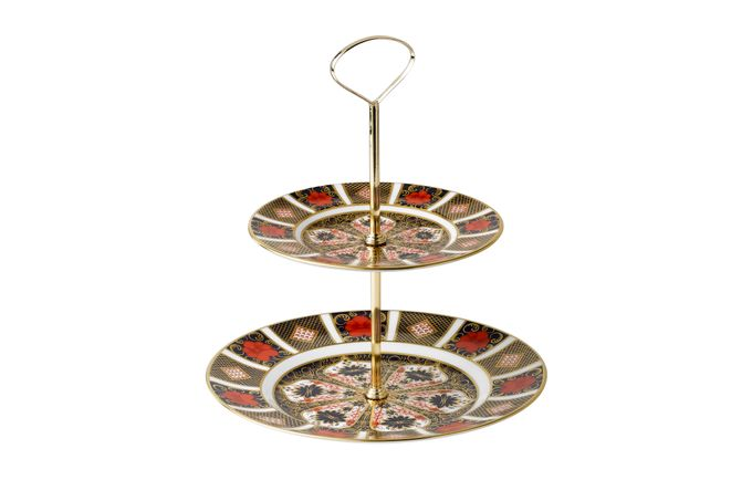 Royal Crown Derby Old Imari 2 Tier Cake Stand