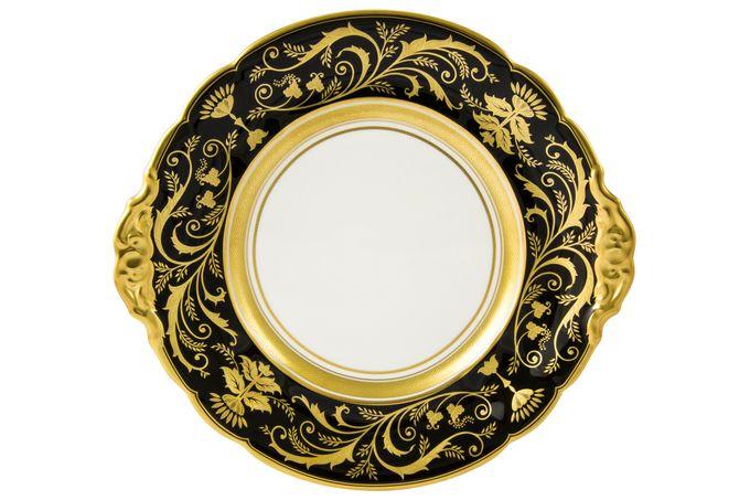 Royal Crown Derby Regency - Black Cake Plate 23cm
