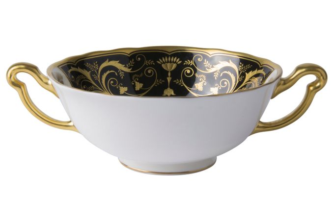 Royal Crown Derby Regency - Black Soup Cup