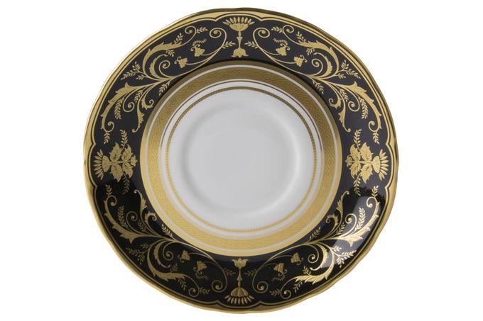 Royal Crown Derby Regency - Black Soup Cup Saucer 16.5cm