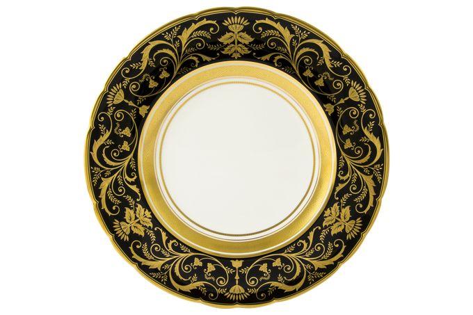 Royal Crown Derby Regency - Black Dinner Plate 27cm