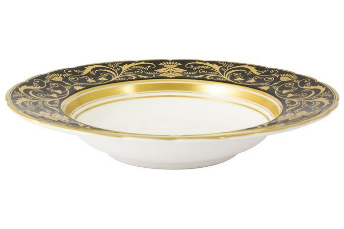 Royal Crown Derby Regency - Black Rimmed Bowl 21.5cm