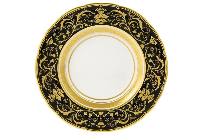 Royal Crown Derby Regency - Black Tea Plate 16cm