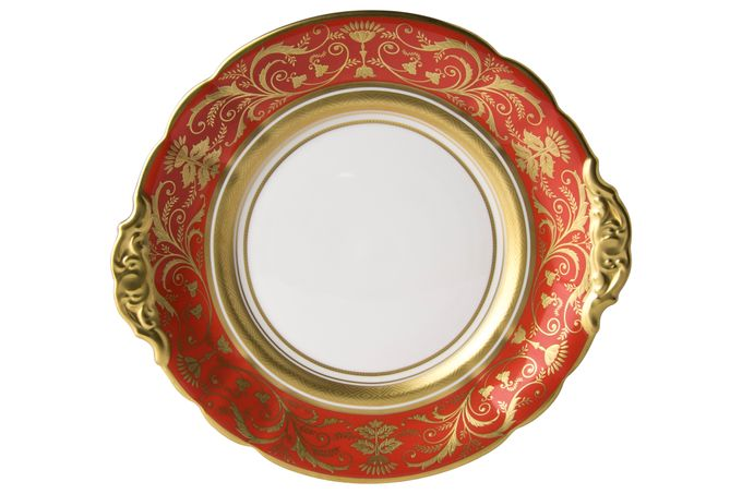 Royal Crown Derby Regency - Red Cake Plate 23cm