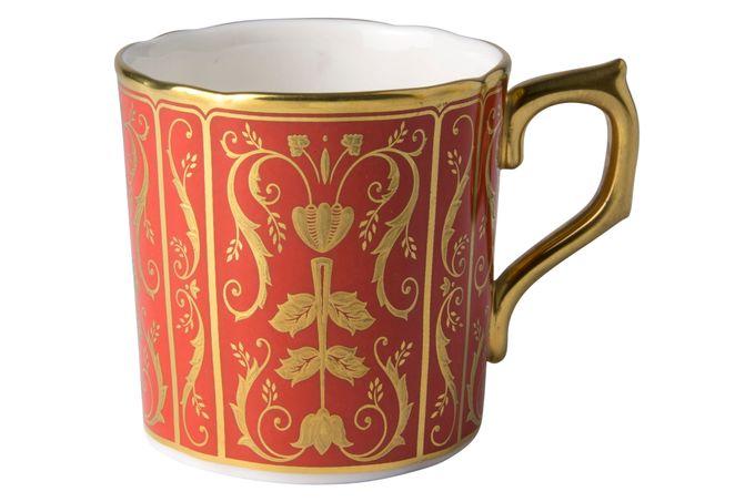 Royal Crown Derby Regency - Red Coffee Cup