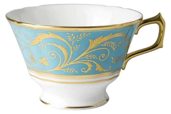 Royal Crown Derby Regency -Turquoise Breakfast Cup