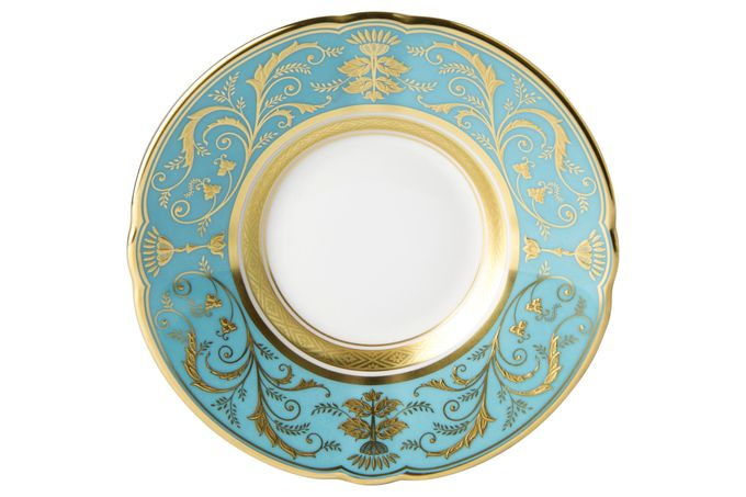 Royal Crown Derby Regency -Turquoise Coffee Saucer