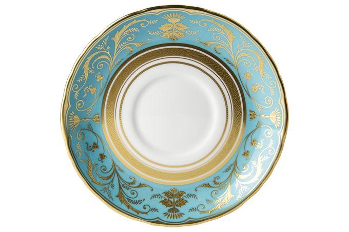 Royal Crown Derby Regency -Turquoise Soup Cup Saucer 16.5cm
