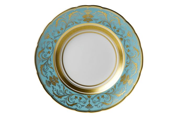 Royal Crown Derby Regency -Turquoise Tea Plate 16cm