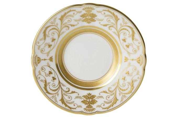 Royal Crown Derby Regency - White Coffee Saucer