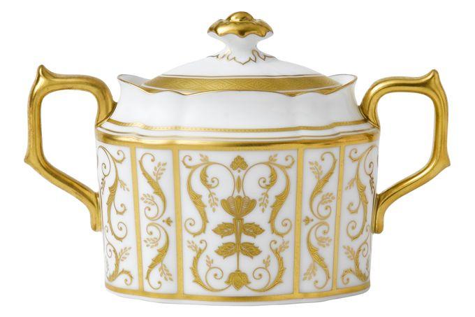 Royal Crown Derby Regency - White Sugar Bowl - Lidded (Tea)
