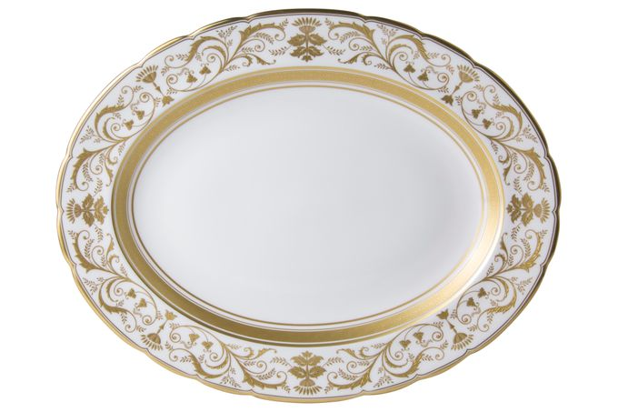 Royal Crown Derby Regency - White Oval Plate / Platter 38cm