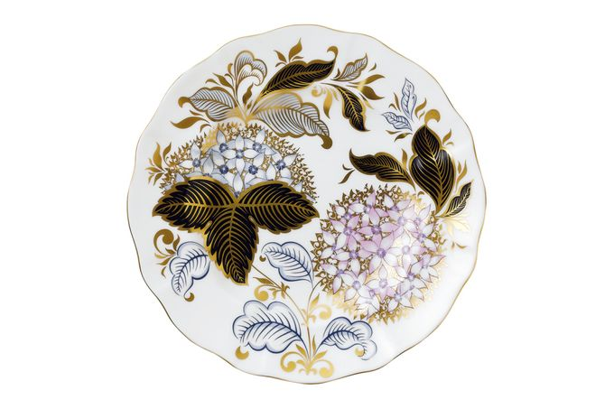 Royal Crown Derby Seasons Accent Plates Accent Side Plate Midwinter Blue 21.5cm