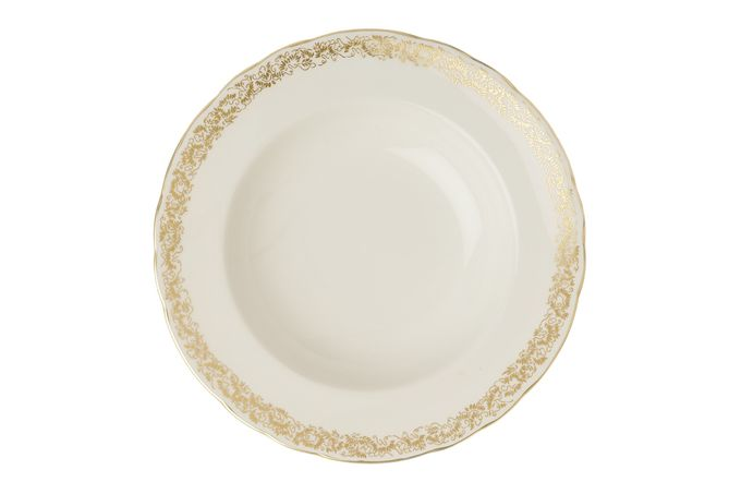 Royal Crown Derby Aves - Gold - Narrow Band Rimmed Bowl 21.65cm
