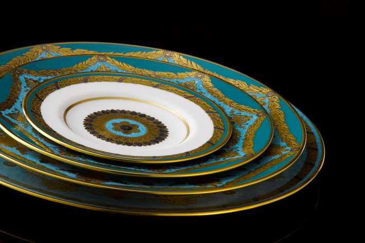 Royal Crown Derby Turquoise Palace