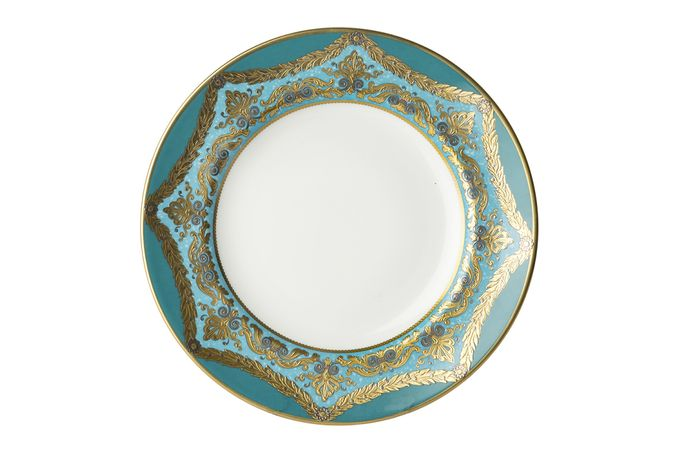 Royal Crown Derby Turquoise Palace Side Plate 21.65cm