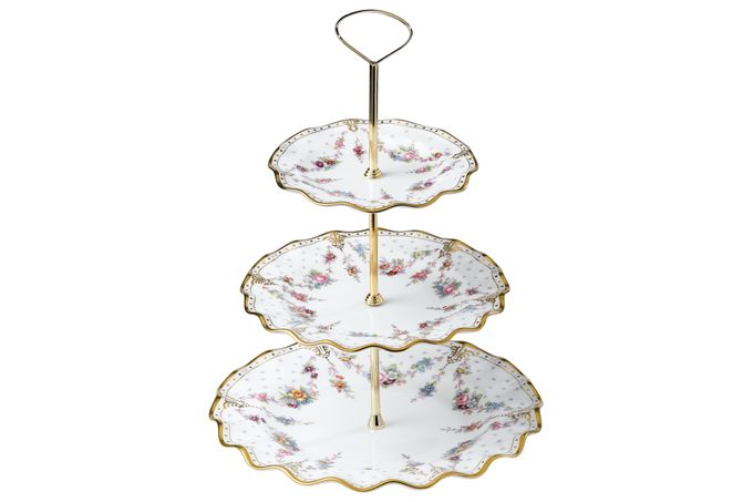 Royal Crown Derby Royal Antoinette 3 Tier Cake Stand