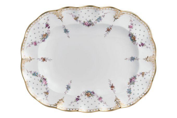 Royal Crown Derby Royal Antoinette Oval Plate / Platter 38cm