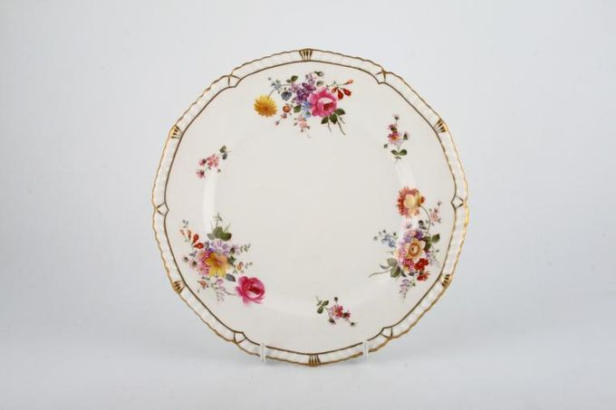 """Royal Crown Derby Derby Posies - Various Backstamps Breakfast / Salad / Luncheon Plate Roped edge with gold work, Flowers may vary 8 7/8"""""""