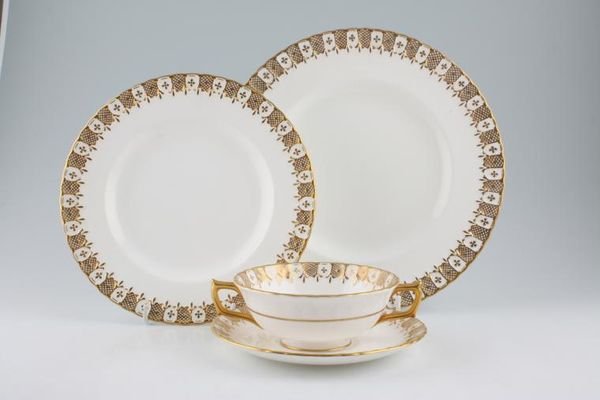 Royal Crown Derby Heraldic - White and Gold Trim