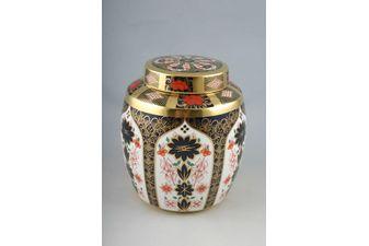 """Royal Crown Derby Old Imari - 1128 - Giftware Ginger Jar Solid Gold Band 6 x 7 1/2"""""""