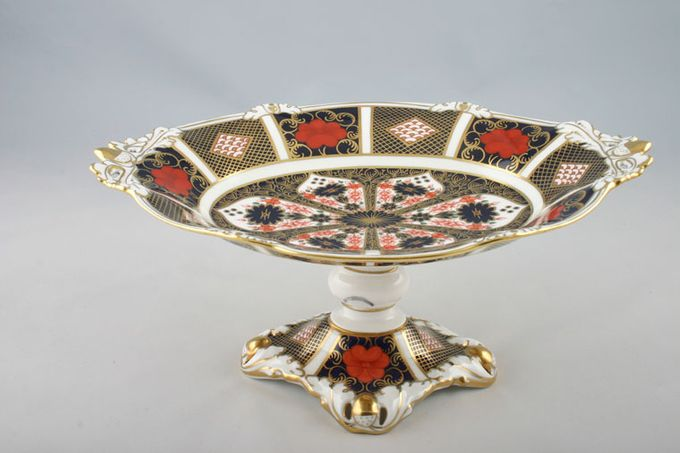"""Royal Crown Derby Old Imari - 1128 - Giftware Comport Tall oval comport 10 1/4 x 4 1/2"""""""