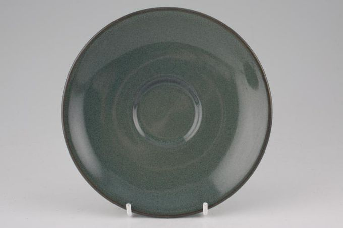 Boots Coniston Tea Saucer Green all over 6""