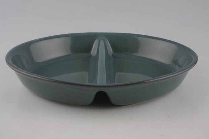 Boots Coniston Vegetable Dish (Divided) Oval. Green all over 11 1/4""