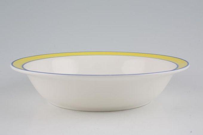 "Royal Doulton Colours - Yellow Rimmed Bowl 7 3/4"""