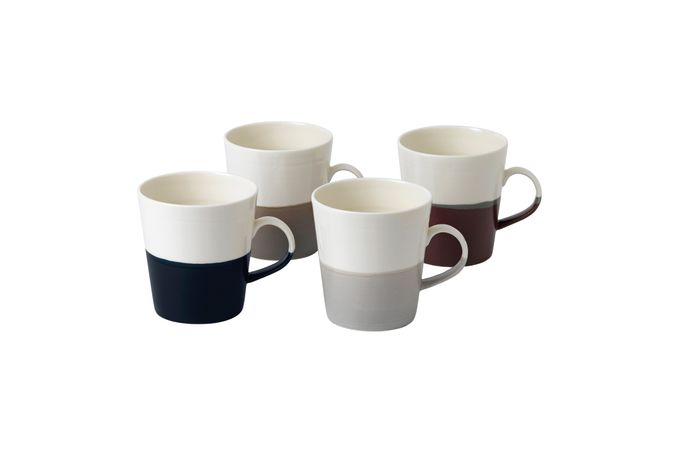 "Royal Doulton Coffee Studio Set of 4 Mugs 4 x 4 1/4"", 560ml"