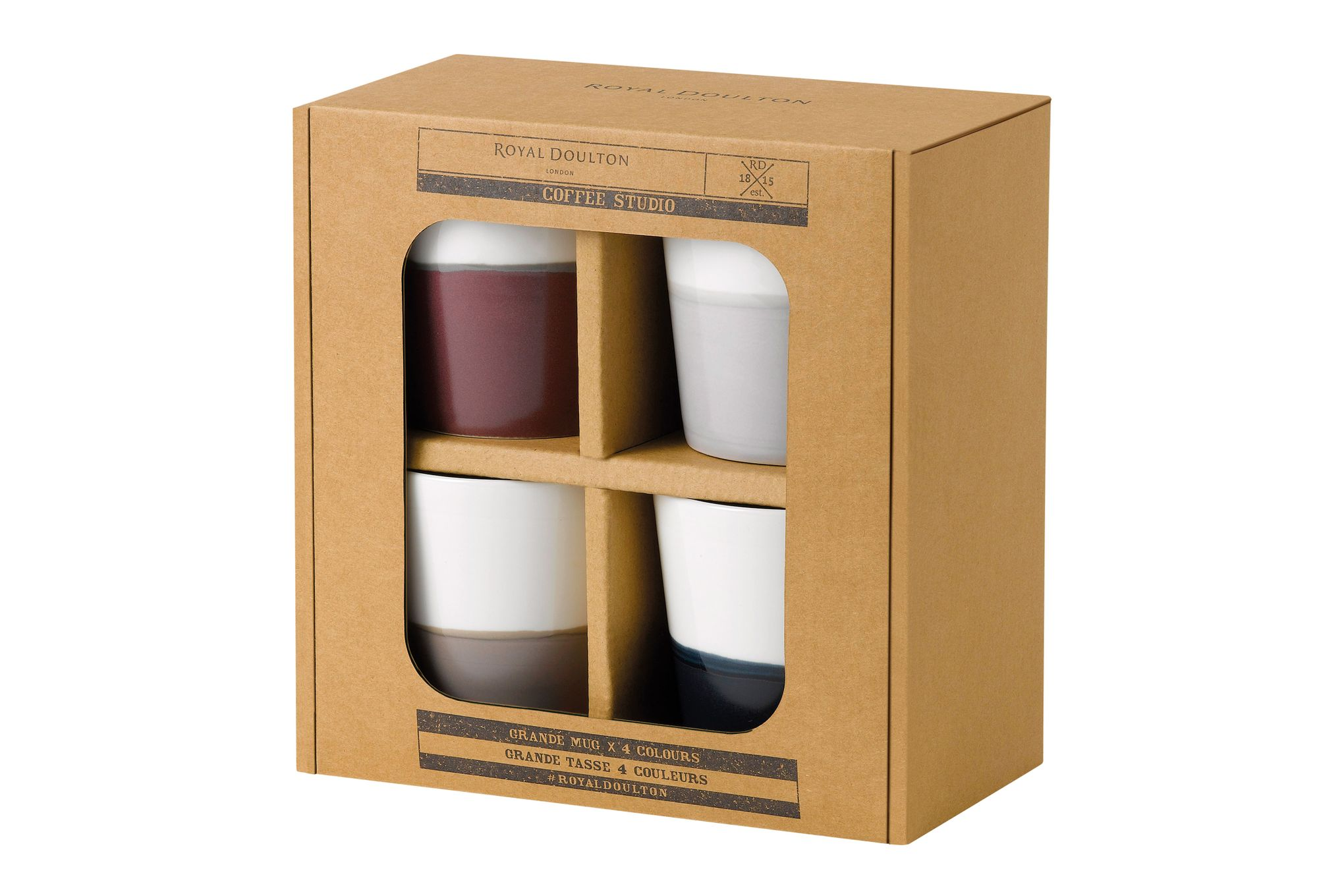 "Royal Doulton Coffee Studio Set of 4 Mugs 4 x 4 1/4"", 560ml thumb 2"
