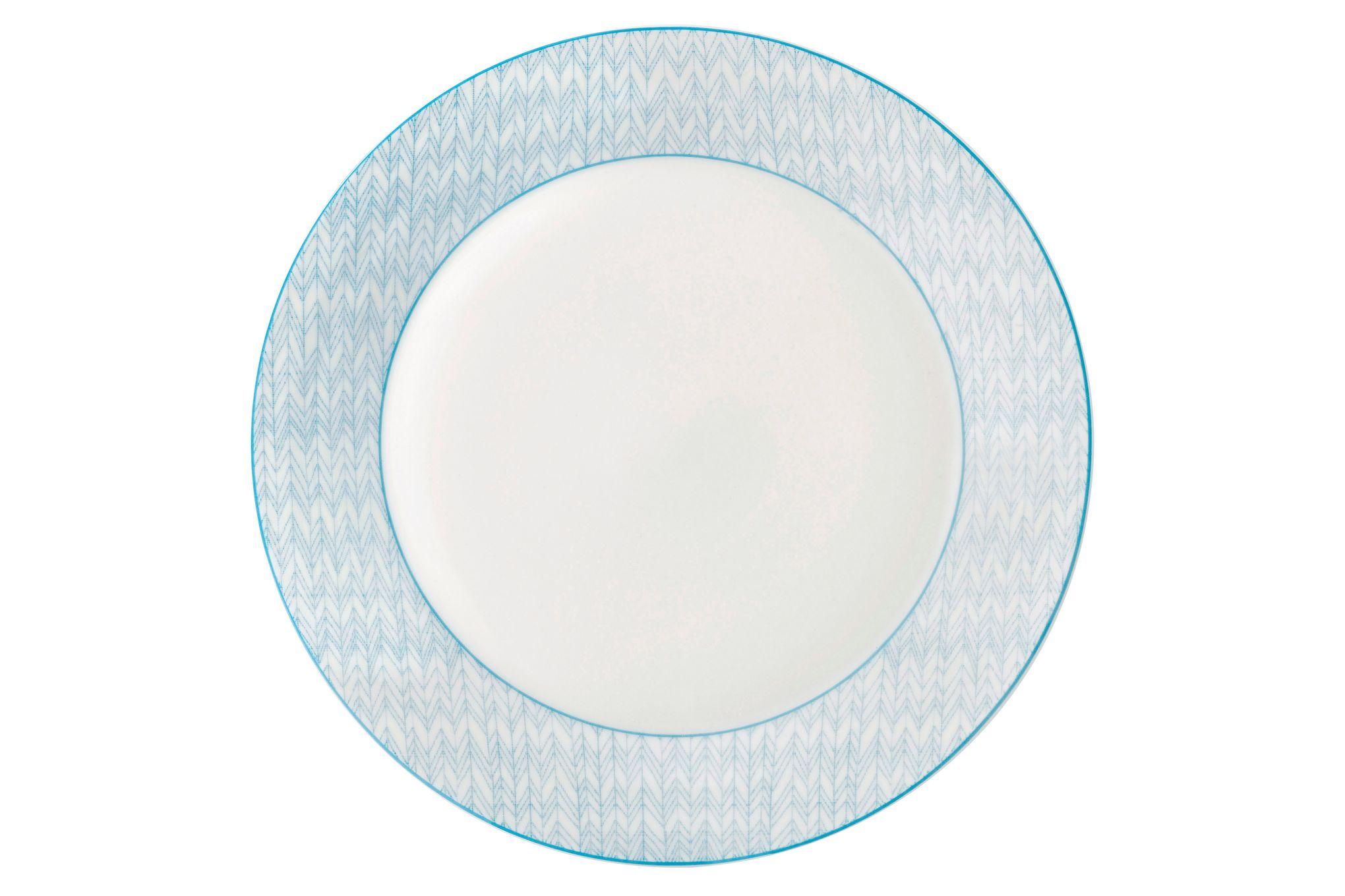 Royal Doulton Pastels Dinner Plate Herringbone 28cm thumb 1