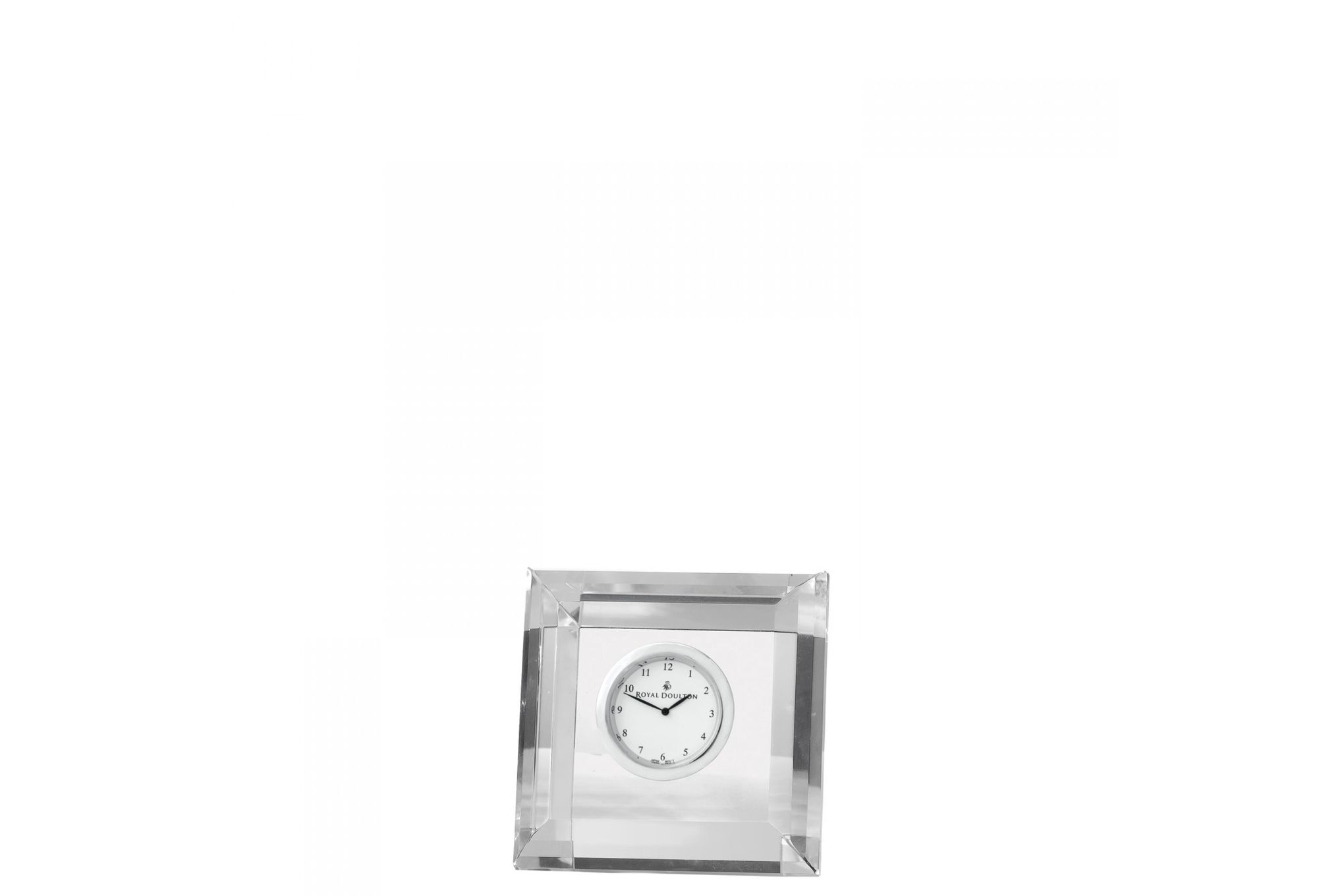Royal Doulton Radiance Clock Square Faceted Boxed thumb 1