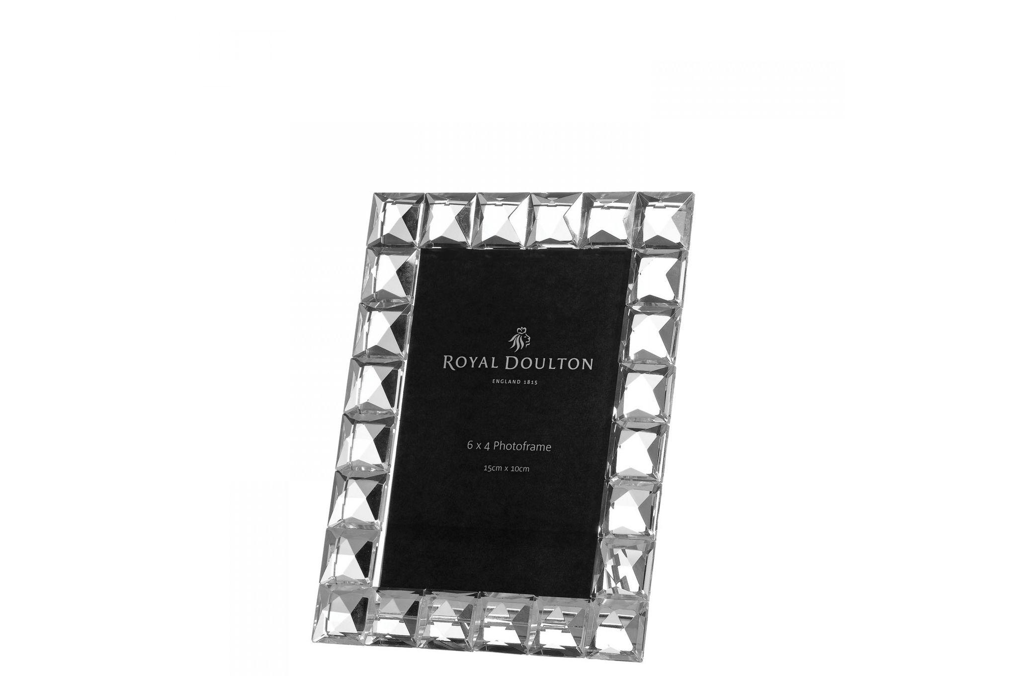 "Royal Doulton Radiance Diamond Photo Frame Boxed 6 x 4"" thumb 1"