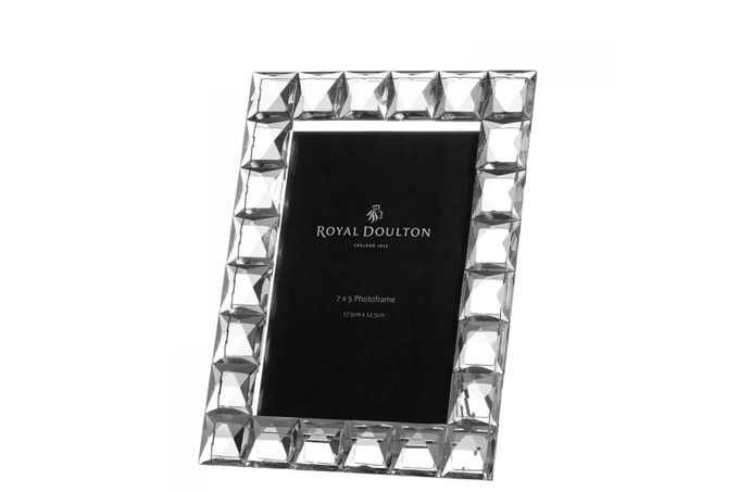 Royal Doulton Radiance Diamond Photo Frame Boxed 7 x 5""