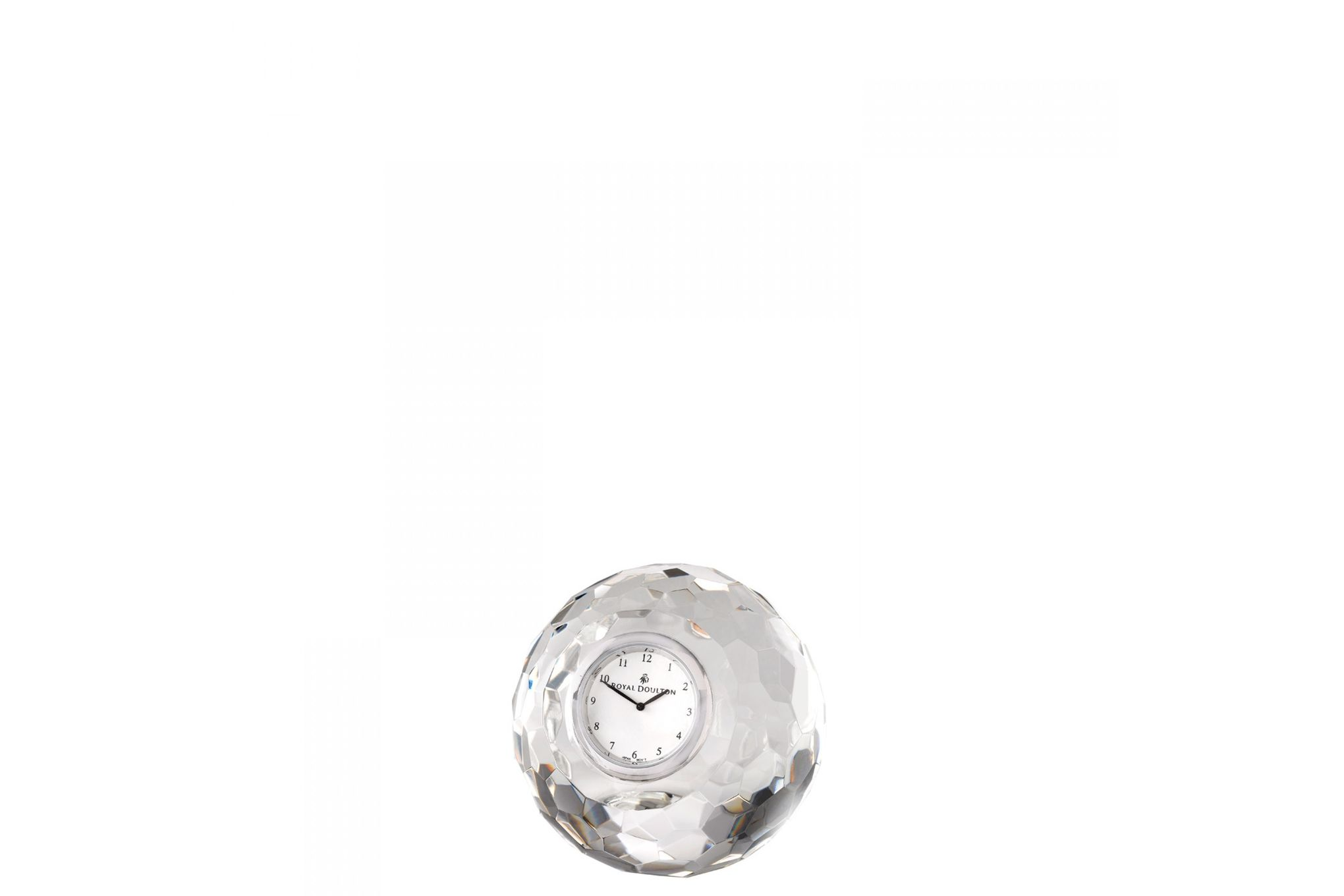 Royal Doulton Radiance Clock Round Faceted Boxed thumb 1
