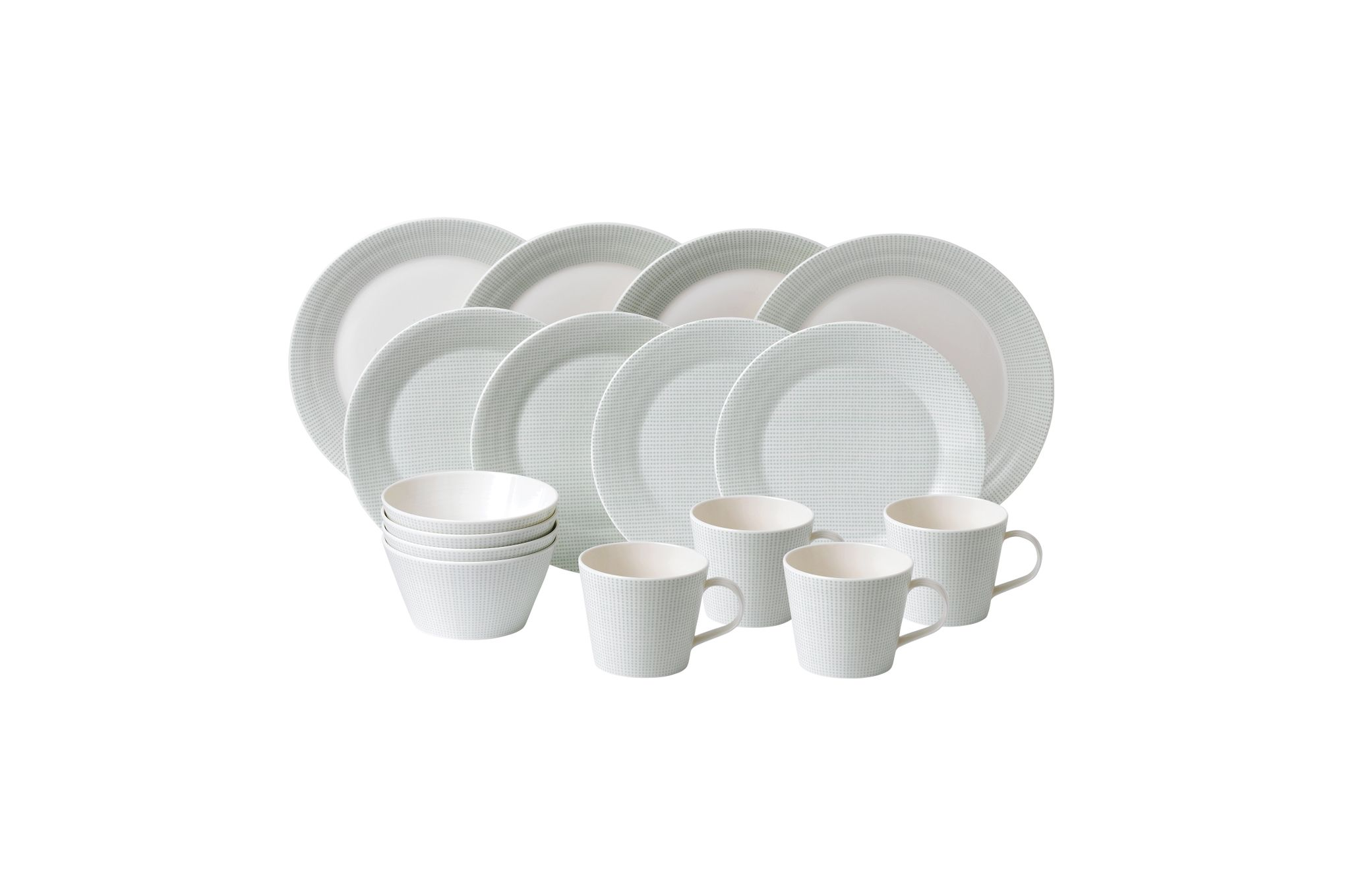 Royal Doulton Pacific Mint 16 Piece Set Dots thumb 1