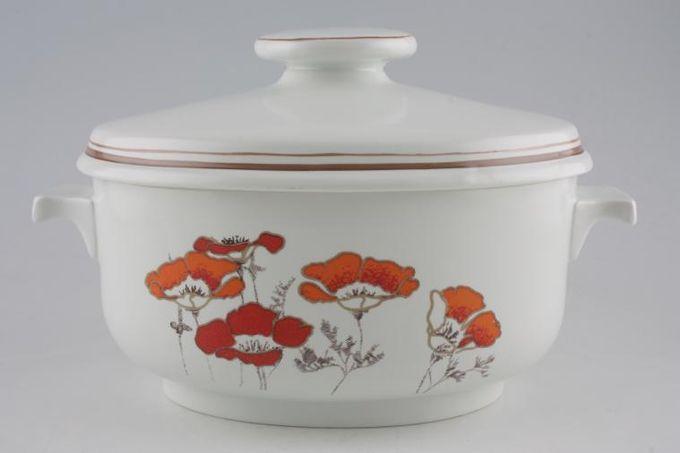 Royal Doulton Fieldflower - L.S.1019 Casserole Dish + Lid oval, lugged 4pt