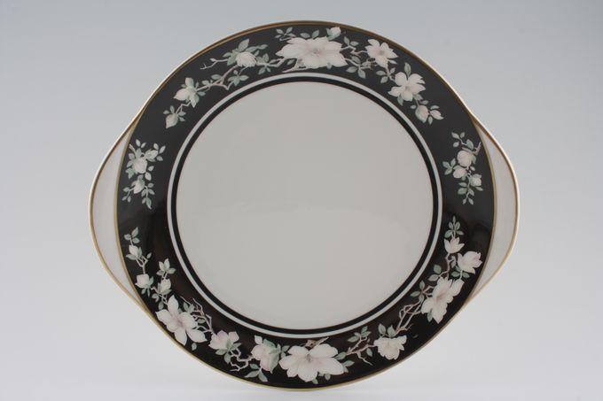 """Royal Doulton Intrigue - TC1153 Cake Plate Round - eared 10 5/8"""""""