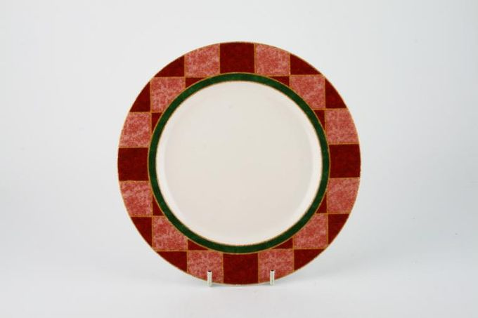 Royal Doulton Japora - T.C.1269 Breakfast / Salad / Luncheon Plate Red Check Rim Pattern 9""