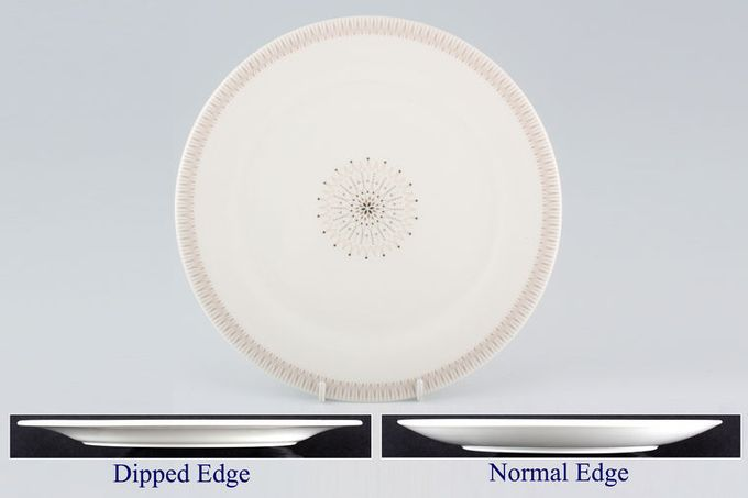 """Royal Doulton Morning Star - T.C.1026 - Fine China and Translucent Dinner Plate Normal edge 10 1/2"""""""
