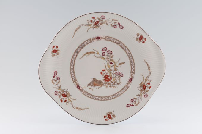 "Royal Doulton Russet Glen - T.C.1133 Cake Plate eared 10 3/8"""