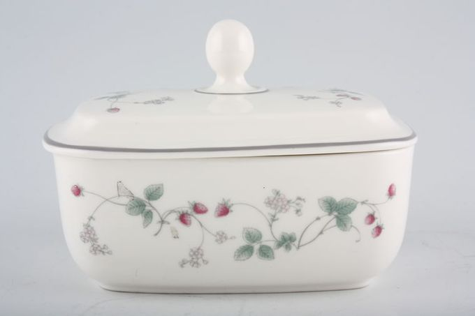 Royal Doulton Strawberry Fayre Butter Dish + Lid