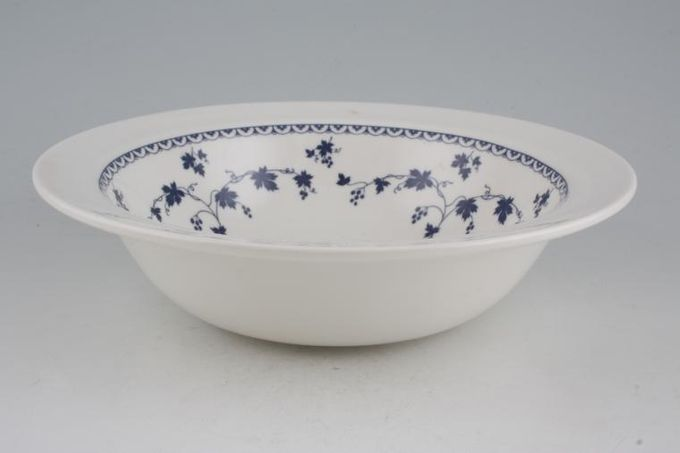 Royal Doulton Yorktown - New Style - Smooth Vegetable Tureen Base Only Round - Patt Inside / No Handles/Salad or Fruit Bowl.