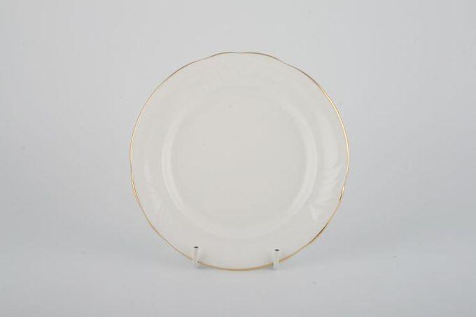 """Royal Doulton Tiara - white+gold - H5174 Tea / Side / Bread & Butter Plate 6 1/4"""""""