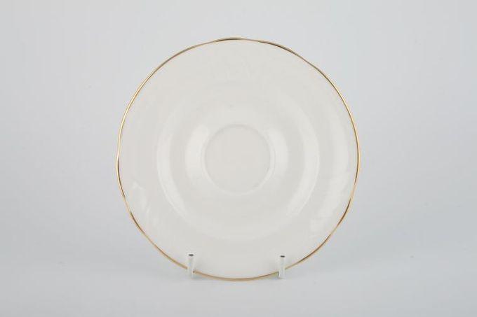 """Royal Doulton Tiara - white+gold - H5174 Tea Saucer 6"""""""
