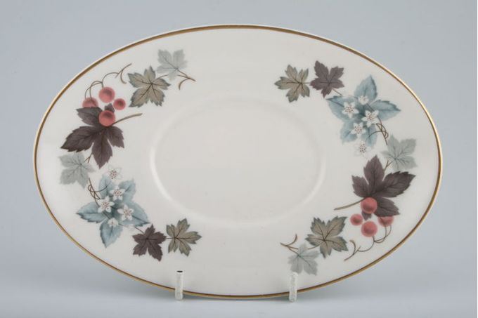 """Royal Doulton Camelot - T.C.1016 Sauce Boat Stand oval 8 1/8"""""""