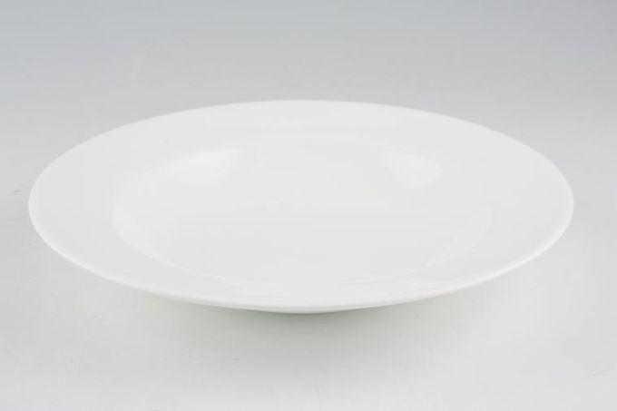 "Royal Doulton Signature White Rimmed Bowl 9 1/4"""